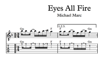 Изображение Eyes All Fire Sheet Music & Tabs