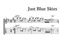 Изображение Just Blue Skies Sheet Music & Tabs