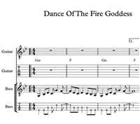 Hình ảnh của Dance Of The Fire Goddess Sheet Music & Tabs