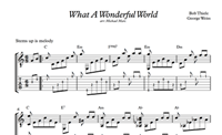 Изображение What A Wonderful World Sheet Music & Tabs