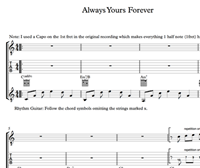 Bild von Always Yours Forever Sheet Music & Tabs