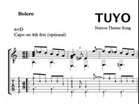 Image de Tuyo (Narcos Theme Song) Sheet Music & Tabs