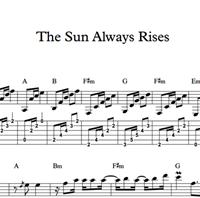 Hình ảnh của The Sun Always Rises - Sheet Music & Tabs