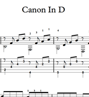 Immagine di Canon In D (Pachelbel) Sheet Music & Tabs Download