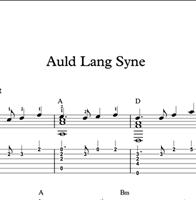 Image de Auld Lang Syne - Sheet Music & Tabs
